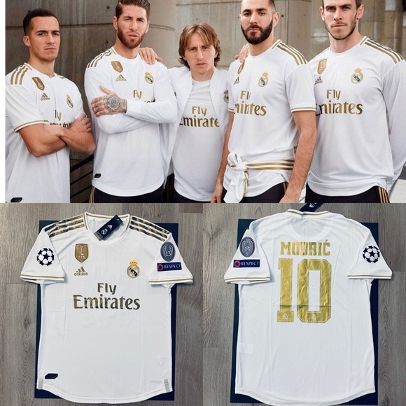 size 40 50e98 50dfb Luka Modric #10 soccer jersey Real Madrid home NWT
